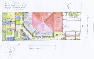 Plan-masse jardins  immeuble brioude