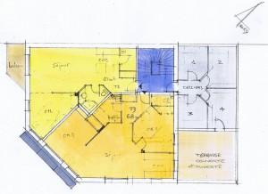 plan 1er étage immeuble brioude